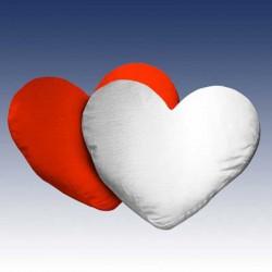 Funda cojín corazón dos caras
