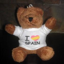 Llavero osito I Love Spain grande